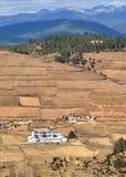 Montagna e villaggio della neve di Haba Fotografie Stock Libere da Diritti