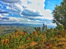 Montagna e vista di Magnificant Immagine Stock Libera da Diritti