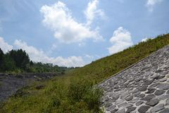 MONTAGNA EAST JAVA INDONESIA DI SEMERU fotografia stock