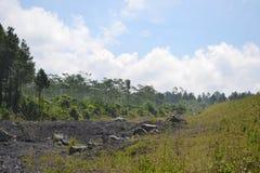 MONTAGNA EAST JAVA INDONESIA DI SEMERU fotografia stock libera da diritti