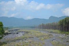 MONTAGNA EAST JAVA INDONESIA DI SEMERU fotografie stock libere da diritti