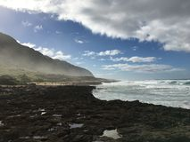 Montagna ed oceano magnifici Fotografia Stock