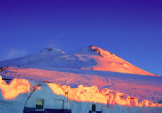 Montagna Elbrus Fotografia Stock
