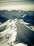 Montagna francese Alpe d'Huez Immagini Stock Libere da Diritti