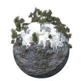 Montagna fredda a terra del globo Fotografia Stock Libera da Diritti