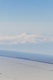 Montagna Fuji dall'aereo fotografie stock libere da diritti