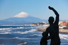 Montagna Fuji e mare nella stagione di autunno Immagine Stock Libera da Diritti