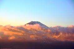 Montagna Fuji in nuvole nel pomeriggio japan Fotografia Stock Libera da Diritti