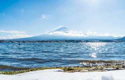 Montagna Fuji San nel lago Kawaguchiko immagini stock