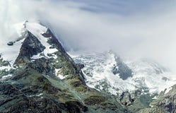 Montagna Ghiacciaio Grossglockner Più alta montagna di Austria's Fotografia Stock Libera da Diritti