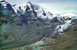 Montagna Ghiacciaio Grossglockner Più alta montagna di Austria's Fotografie Stock