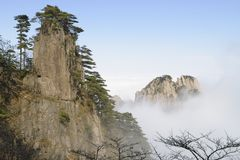 Montagna gialla - Huangshan, Cina Fotografie Stock Libere da Diritti