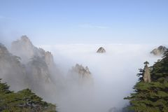 Montagna gialla - Huangshan, Cina Fotografia Stock Libera da Diritti