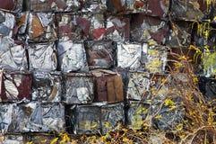 Montagna gigante del metallo di Alulminum dello scarto Fotografie Stock