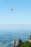 Montagna Hang Gliding Fotografie Stock Libere da Diritti
