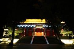 Montagna Huashan alla notte Fotografie Stock