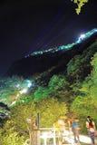 Montagna Huashan alla notte Fotografia Stock