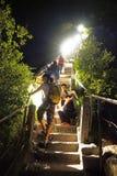 Montagna Huashan alla notte Immagine Stock Libera da Diritti