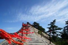 Montagna Huashan Lotus Flower Peak di punta ad ovest Immagine Stock