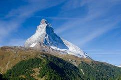 Montagna il Cervino, Zermatt, Svizzera Fotografia Stock