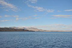 Montagna il Titicaca Immagine Stock