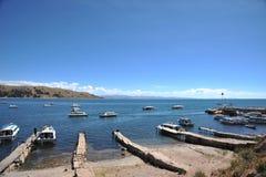 Montagna il Titicaca Fotografia Stock