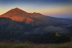 Montagna Indonesia di Rinjani Immagine Stock