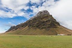 Montagna in Islanda Immagini Stock Libere da Diritti