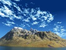Montagna - isola Fotografia Stock Libera da Diritti