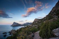 Montagna Khoba-Kaya, Noviy Svet, Crimea Fotografia Stock