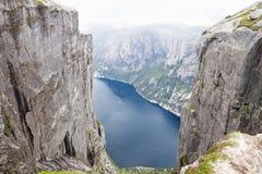 Montagna Kjerag in Norvegia immagini stock