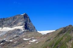 Montagna Kristallwand, alpi di Hohe Tauern, Austria Fotografia Stock Libera da Diritti