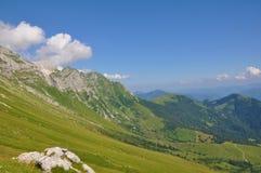 Montagna Krn nelle alpi di Julian Fotografia Stock
