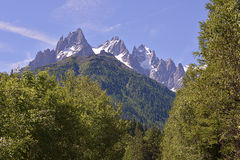 Montagna a Le Lavancher Fotografie Stock