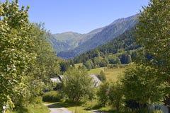Montagna a Le Lavancher Fotografia Stock