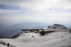 Montagna Lijiang della neve di Jade Dragon Immagine Stock