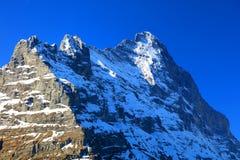 Montagna 3970m in primavera, Berner Oberland di Eiger Immagine Stock