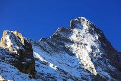 Montagna 3970m in primavera, Berner Oberland di Eiger Immagine Stock Libera da Diritti