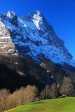 Montagna 3970m in primavera, Berner Oberland di Eiger Fotografie Stock