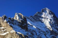 Montagna 3970m in primavera, Berner Oberland di Eiger Fotografie Stock Libere da Diritti