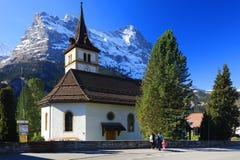 Montagna 3970m in primavera, Berner Oberland di Eiger Fotografia Stock Libera da Diritti