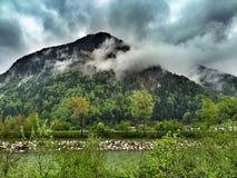 Montagna Marquartstein di Alpes in Baviera Germania Fotografie Stock Libere da Diritti