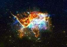 Montagna mistica nello spazio cosmico Fotografia Stock