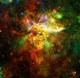 Montagna mistica nello spazio cosmico Elementi di questa immagine ammobiliati dalla NASA immagine stock libera da diritti