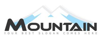 Montagna/montagne Logo Concept Fotografia Stock