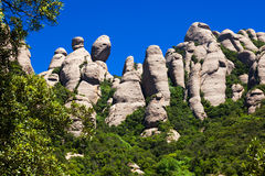 Montagna Montserrat Immagini Stock