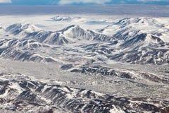 Montagna naturale di stagione invernale di vista aerea Fotografia Stock Libera da Diritti