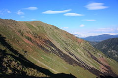 Montagna nei Pyrenees Fotografie Stock Libere da Diritti