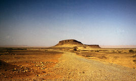 Montagna nel deserto Fotografia Stock