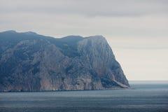 Montagna nel mare Fotografia Stock